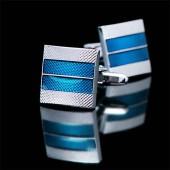 Синие запонки