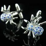 Паук с кристаллами Запонки