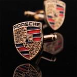 Porsche золотой Запонки