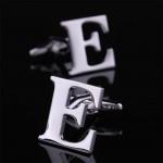 Буква Е стальная Запонки