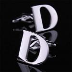 Буква D стальная Запонки