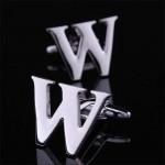 Буква W стальная Запонки