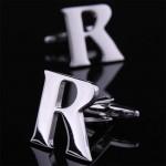 Буква R стальная Запонки