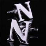 Буква N стальная Запонки
