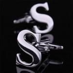Буква S стальная Запонки