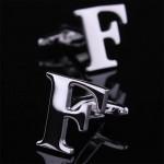 Буква F стальная Запонки