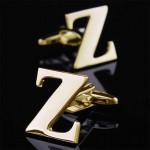 Буква Z золотая Запонки