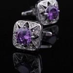 Фиолетовый кристалл Запонки