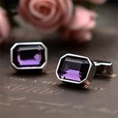 Лиловый кристалл Запонки