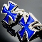 Запонки Синий крест