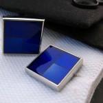 Синий квадрат Запонки