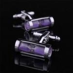 Фиолетовые часы Запонки