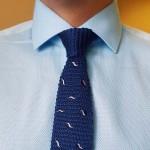Dave Raball голубая сорочка под запонки