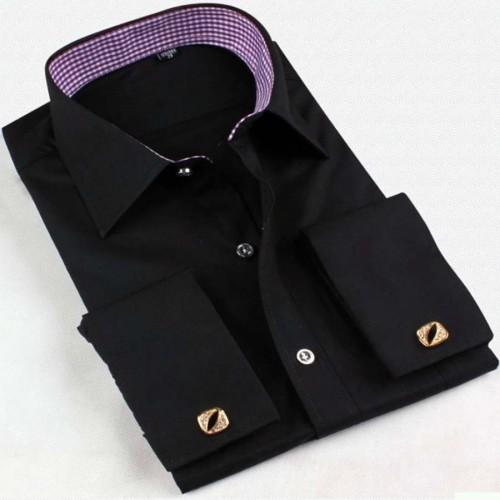 5a4759c8703 Купить черную рубашку под запонки - цена 2250 рублей