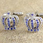 Алмазная корона Запонки